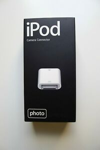 OFFICIAL GENUINE APPLE iPod Photo Camera Connector M9861G/A USB - NEW in BOX