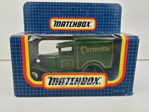 """Matchbox Moulé sous Pression 1/64 MB-38 Ford Modèle À Ballast """" Carmelle """""""