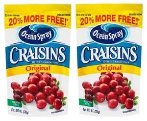 Ocean Spray Craisins Original Dried Cranberries 2 Bag Pack