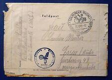 Feldpostbrief mit Inhalt Sonderstempel LEICHLINGEN vom 21.12.42 nach Essen