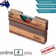 Slim Wallet Men's Wooden Credit Card Holder Business Card ID Timber ID Cover