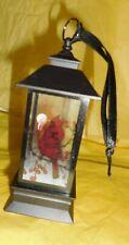 Snow Globe Lantern Red Cardinal Mesmerizing Swirls of Light