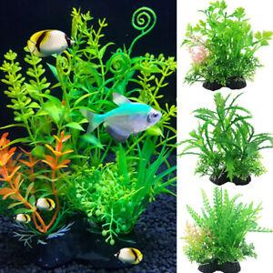 Artificial Fake Plastic Water Grass Plants Fish Tank Aquarium Ornaments