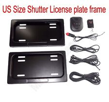 USA Remote Control Stealth Hidden License Plate Frame,Metal Plate Holder,Curtain