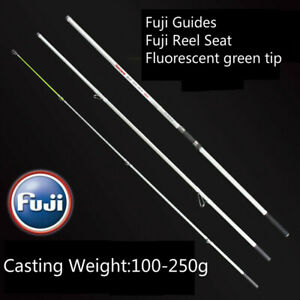 Fuji Travel Surf Rod 3 Piece 14ft 15ft Beach Fishing Rod Casting Weight 100-250g