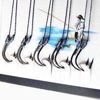 70X Fischköder geschärft Anti-Beiß-Haken Angelhaken Angelgerät Jig WH