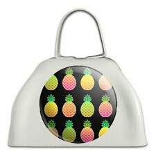 Colorful Pineapples Pattern White Metal Cowbell Cow Bell Instrument