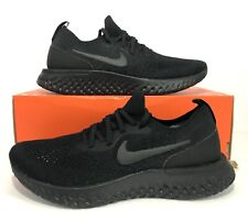 Nike Epic React Flyknit FK Triple Black Running Shoes AQ0067-003 Men's Size 8