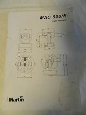 Martin MAC 500 User Manual