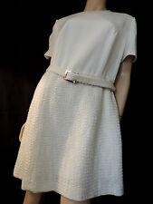 PUR VINTAGE 60 ROBE ECRU   COUTURE  42/44 / WHITE DRESS