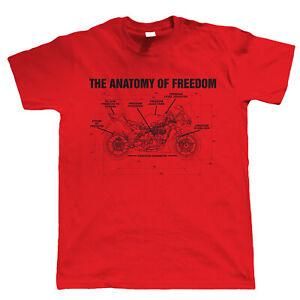 Massive Stock Clearance, Anatomy Of Freedom, Mens Biker T Shirt