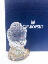 New Swarovski Golden Cute Buddha Sparkling Crystal Figurine Display 5492232