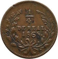 Mexico 1/4 Real 1865 Sinaloa Mexiko Münze Coin