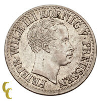 1822-A German States 1/2 Silver Groschen About Uncirculated Condition KM #409