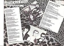 BILLY IDOL Generation X XTC lyrics magazine PHOTO / mini Poster 11x8 inches