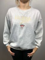 Womens Guess Jeans USA VTG Crew Grey Sweater Large Cotton 80s 90s Retro Crop