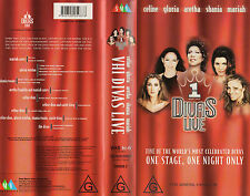VH1 DIVAS LIVE -Celine, Gloria and Aretha -VHS -PAL - NEW - Never played! RARE!!