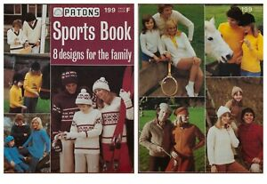 Patons Sports Knitting Pattern Book Horse Sweater Fair Isle 8 Designs 199 Vntage