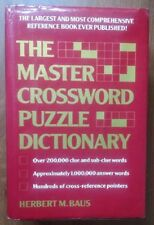 MASTER CROSSWORD PUZZLE DICTIONARY (BAUS) - 1992 ED
