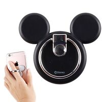 Disney characters smartphone iPhone bunker ring multi holder Mickey icon black