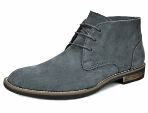 Men's Flat Suede Leather Lace Up Oxfords Casual Chukka Desert Ankle Boots Shoes