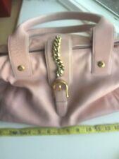 Juicy Couture Satchel Bag Pale Pink Cow Hide Leather Silver Hardware Handbag