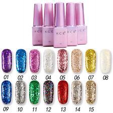 6ml Shimmer Glitter UV Gel Nail Polish Sequins Varnish Nail Manicure DIY EB