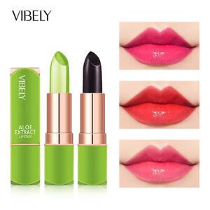 Aloe Vera Waterproof Moisturizer Color Changing Lip Balm Lipstick Long Lasting