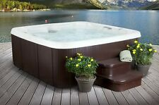 7 Person 65 Jet Hot Tub Spa Mahogany with Steps & Cover 7 Seats