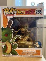 Funko Pop Animation Vinyl Dragonball Z Super Gold Shenron Exclusive 265 Golden