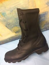 US Military Army Ladies Combat Black Leather Boots Size 5 R