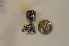 Elephant charm +bead Tibetan silver Pendant Charm for jewelry making craft 24pcs