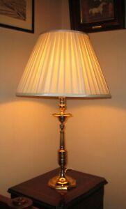 Vintage Cast Brass Traditional Slender Candlestick Table/Bedside Lamp Base