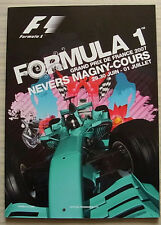 French Grand Prix Formula One F1 2007 Magny cours programme officiel