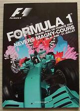FRENCH GRAND PRIX FORMULA UNO F1 2007 MAGNY COURS PROGRAMMA UFFICIALE