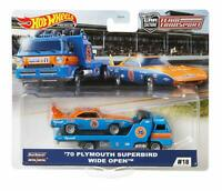 Hot Wheels 2020 Team Transport '70 Plymouth Superbird & Wide Open 1/64 Diecast