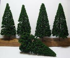 """Multi Scale Use-Authentic Scenery-5 Pc Set-6"""" Dark Green Detailed Pine Trees"""