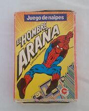 VINTAGE 1985 Spiderman Card Game , El Hombre Araña Juego de naipes