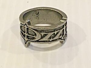 Ozzy Osbourne 2003 concert pewter ring.size 12