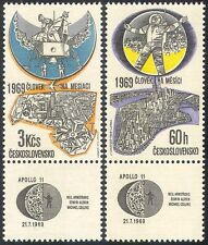 Czechoslovakia 1969 Apollo 11/Moon Landing/Astronauts/Space 2v set (n24957)