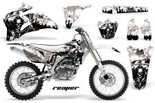 Graphics Kit Decal Wrap + # Plates For Yamaha YZ250F YZ450F 2006-2009 REAPER WHT