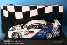 BMW M3 GTR #42 ELMS JARAMA 2001 LEHTO MULLER MINICHAMPS 400012192 1/43 E46