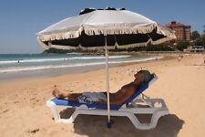 SUPER COOL Beach Umbrella: Silver bestUV top&black under, air ventSANDLOK anchor
