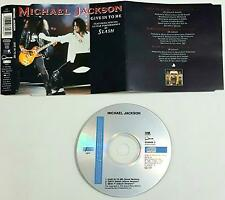 Michael Jackson Featuring By Slash Give In To Me  Cd Single