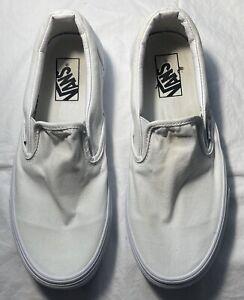 Women's VANS  White Slip On Shoes Size 10 FREE SHIPPING