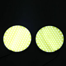 1Pair 15W Car COB Round White Lamp 120SMD LED Daytime Running Warming Light DRL