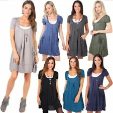 Boho Dresses Tunic/Smock Dress for Women with Pockets
