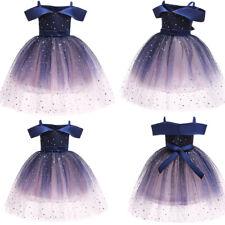 Kids Baby Flower Girls Party Sequins Tutu Dress Wedding Bridesmaid Dresses Gown