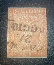 Antichi Stati Parma 15 cent 1853-55 cat. 600 euro