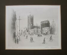 Arthur Delaney 'Manchester Cathedral' Matted Signed Limited Edition Print
